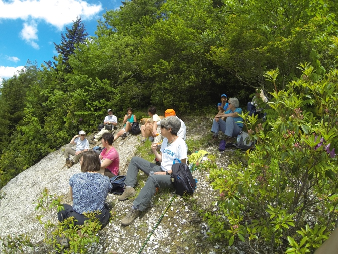 INC High Peaks hikers at Isom Mine, Yancey County